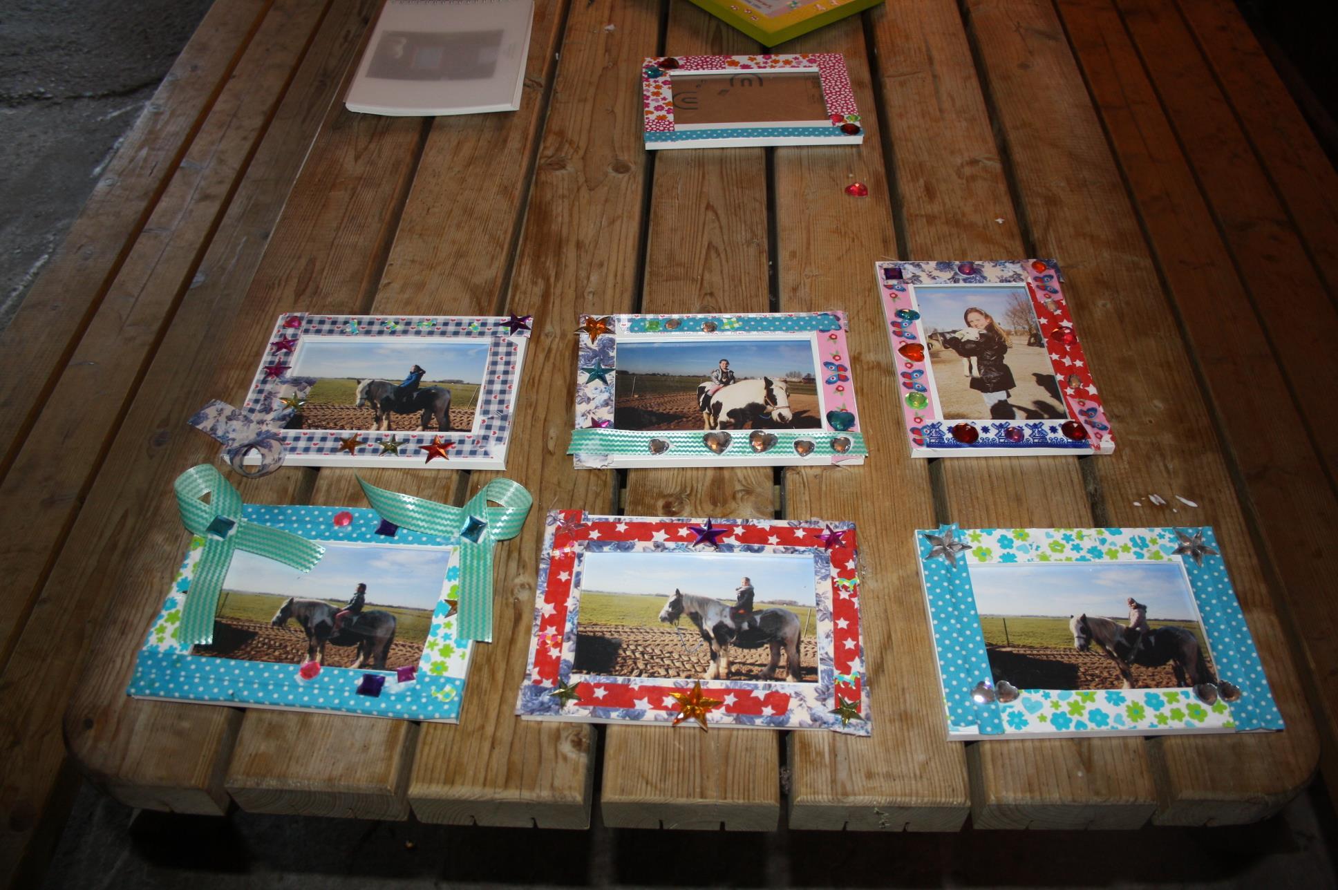 Uitzonderlijk Fotolijstje met eigen foto knutselen – Kinderfeestjes op de Boerderij UI67